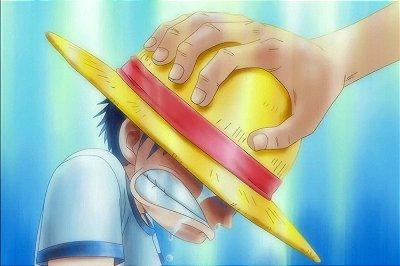 Quadro One Piece - Luffy e Shanks 2