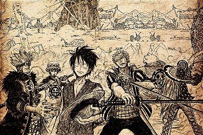 Quadro One Piece - Desenho Artístico