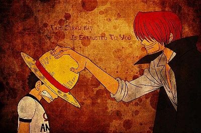 Quadro One Piece - Luffy e Shanks