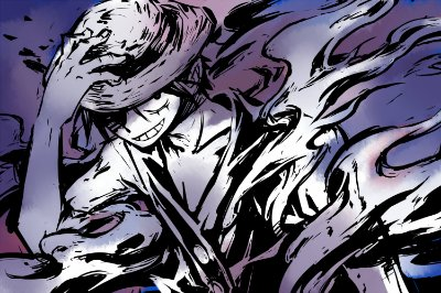 Quadro One Piece - Luffy Artístico