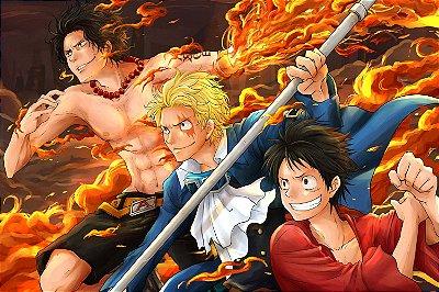 Quadro One Piece - Luffy, Sabo e Ace