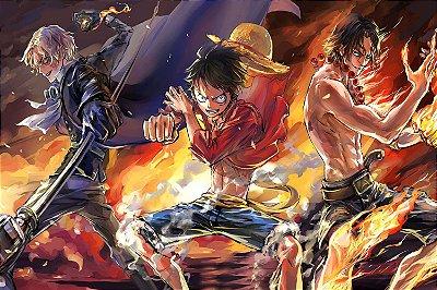 Quadro One Piece - Luffy, Sabo e Ace 2