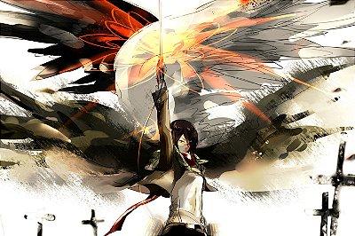 Quadro Attack on Titan - Mikasa Ackerman Artístico