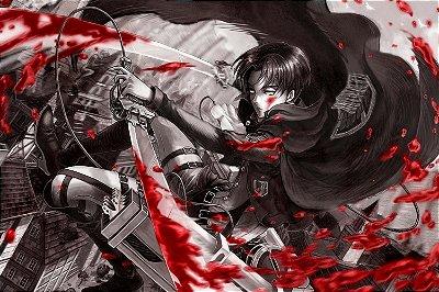 Quadro Attack on Titan - Levi Ackerman Artístico