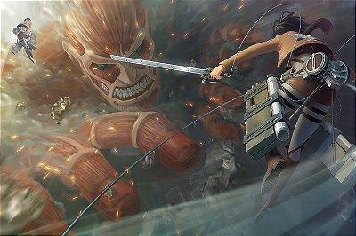 Quadro Attack on Titan - Mikasa vs Titã 2