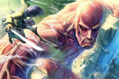 Quadro Attack on Titan - Eren vs Titã