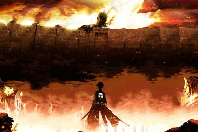 Quadro Attack on Titan - Eren vs Titã 4