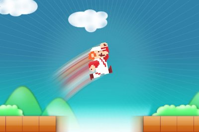 Quadro Gamer Mario - Pulo