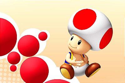 Quadro Gamer Mario - Toad