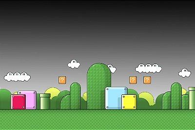 Quadro Gamer Mario - Cenário