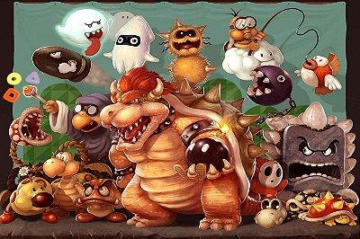 Quadro Gamer Mario - Vilões