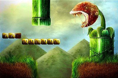 Quadro Gamer Mario - Cenário Artístico