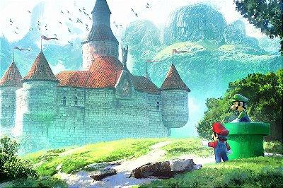 Quadro Gamer Mario - Castelo