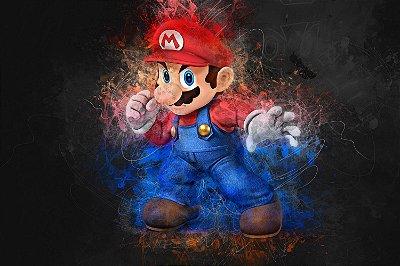 Quadro Gamer Mario - Super Mario Artístico