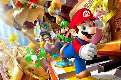 Quadro Gamer Mario - Personagens 3