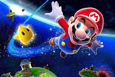 Quadro Gamer Mario - Espaço