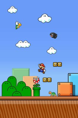 Quadro Gamer Mario - Cenário 4