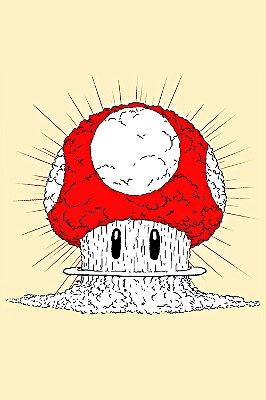 Quadro Gamer Mario - Cogumelo Nuclear