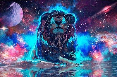 Quadro Leão - Universo