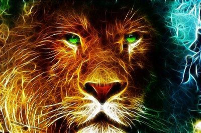 Quadro Leão - Energia 4