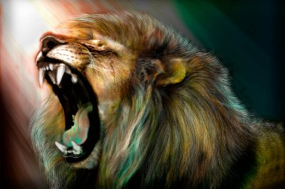 Quadro Leão - Rugido