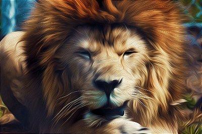 Quadro Leão - Pintura