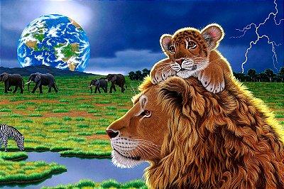 Quadro Leão - Desenho