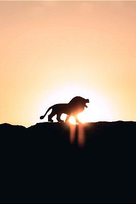 Quadro Leão - Minimalista