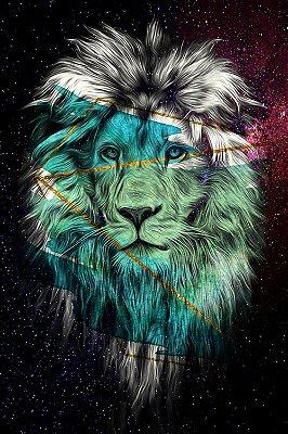 Quadro Leão - Eterno 3