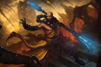 Quadro Gamer Diablo - Monge