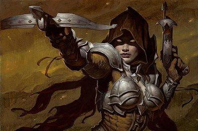 Quadro Gamer Diablo - Caçadora de Demônios