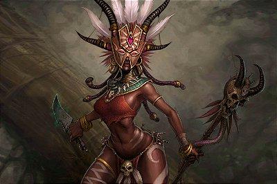 Quadro Gamer Diablo - Feiticeiro
