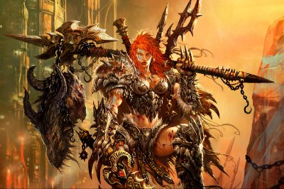 Quadro Gamer Diablo - Bárbara