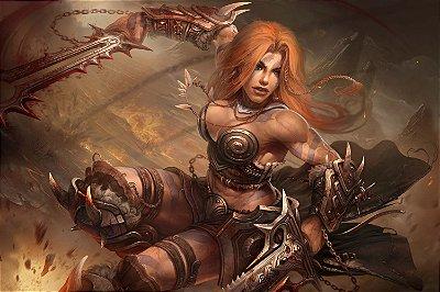 Quadro Gamer Diablo - Bárbara 3
