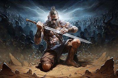 Quadro Gamer Diablo - Bárbaro