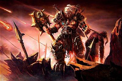 Quadro Gamer Diablo - Bárbaro 2