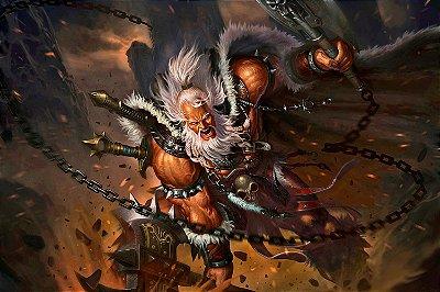 Quadro Gamer Diablo - Bárbaro 3