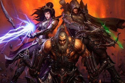 Quadro Gamer Diablo - Trio