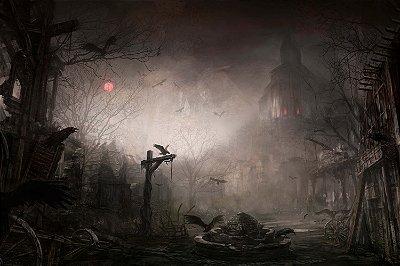 Quadro Gamer Diablo - Cenário