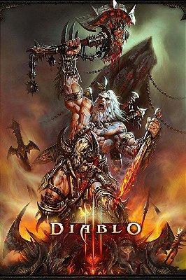 Quadro Gamer Diablo - Bárbaro 4