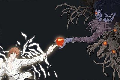 Quadro Anime Death Note - Light e Ryuk 2