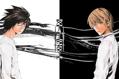 Quadro Anime Death Note - Light e L