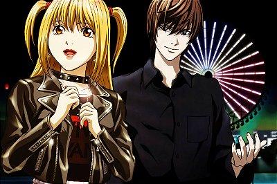 Quadro Anime Death Note - Light e Misa