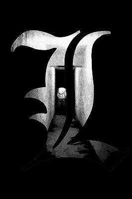 Quadro Anime Death Note - L Dark