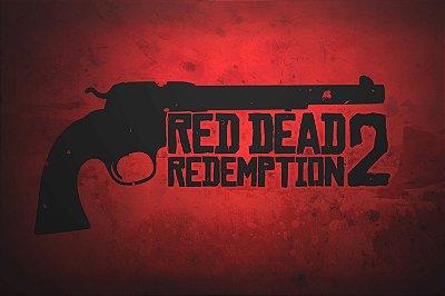 Quadro Gamer Red Dead Redemption - Revólver