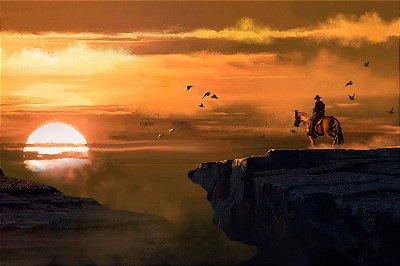 Quadro Gamer Red Dead Redemption - Paisagem