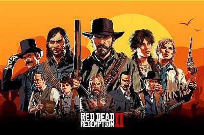 Quadro Gamer Red Dead Redemption - Personagens