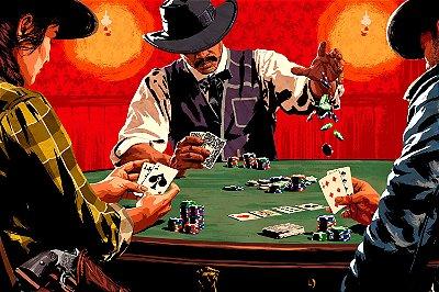 Quadro Gamer Red Dead Redemption - Poker