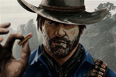 Quadro Gamer Red Dead Redemption - Arthur Morgan 3
