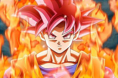 Quadro Dragon Ball  - Goku Super Saiyajin Deus